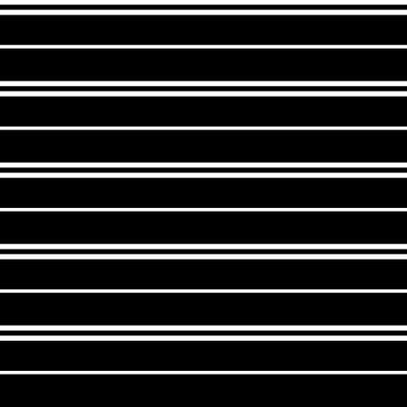 Seamless vector stripe pattern with colored horizontal parallel stripes in white with a black background. Texture background. Surface pattern design. Иллюстрация