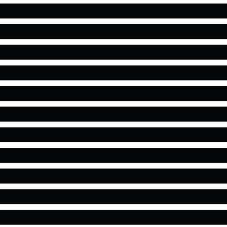 Seamless vector repeat classic stripe pattern with horizontal parallel stripes in black with a white background. Surface pattern design.