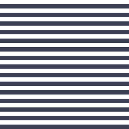 Seamless vector simple stripe pattern with navy and white horizontal parallel stripes background texture.Surface pattern design.