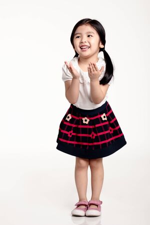Studio portrait of Asian girl