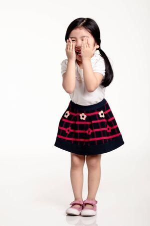 Studioportret van Aziatisch meisje