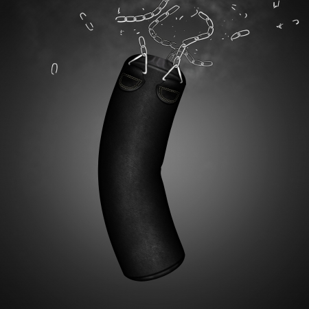 shreds: Punching bag  Stock Photo