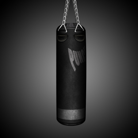 shreds: boxing punching bag Stock Photo