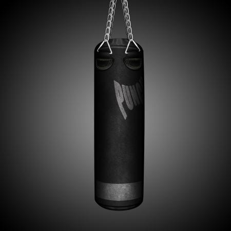 shreds: boxing punching bag Stock Photo