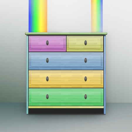 chest of drawers: Furniture Stock Photo