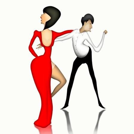 Couple dancing tango photo