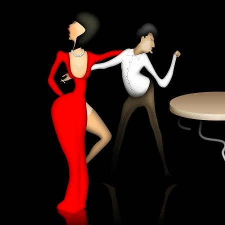 bailando salsa: Danza Foto de archivo
