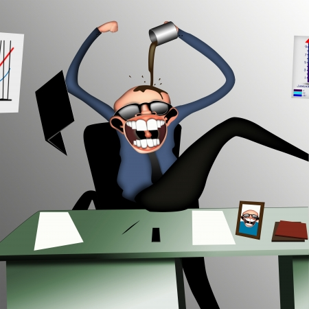 insanity: Stress the employee in the office