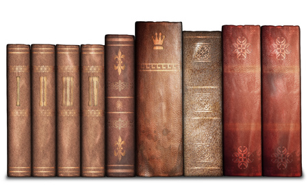 history books: Old books, library Stock Photo