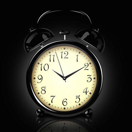 antiquarian: Alarm clock on the dark background