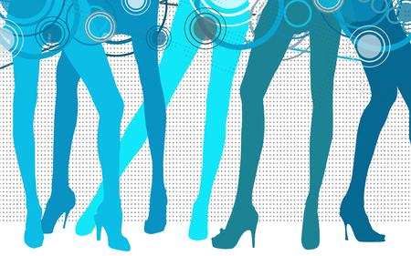 powder room: blue woman Legs Stock Photo