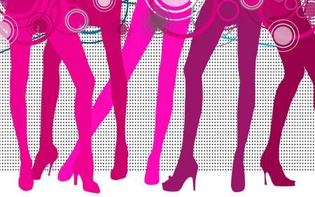 Pink women Legs photo