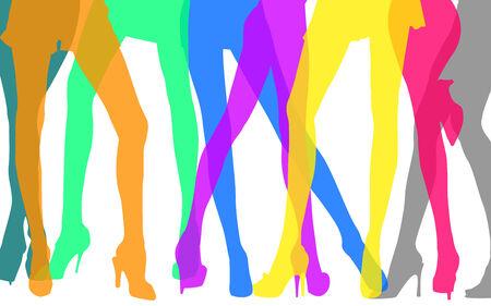 Colorful women Legs photo