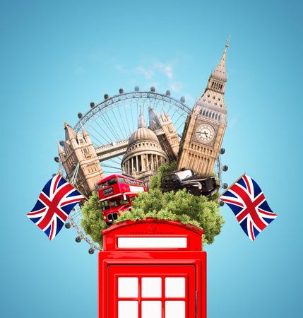 ロンドンのコラージュ