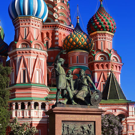 Russia, Moscow, St  Basil s Cathedral on red square Stock Photo