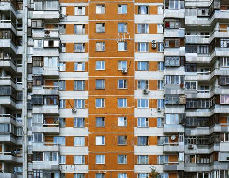 big windows: Big house, city life, windows and balconies Stock Photo