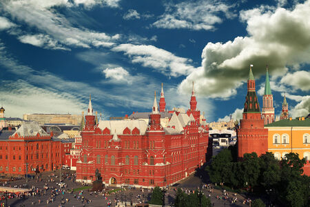 kremlin: Russia, Moscow view of the Kremlin and the red square Stock Photo