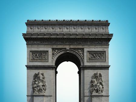 champs elysees: Paris arc de Triomphe on the Champs Elysees, France Stock Photo