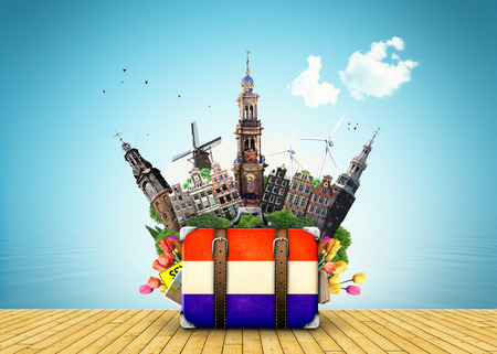 Holland travel place vector Stock Photo