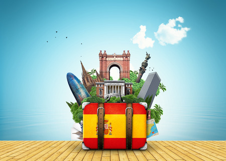 Spain travel place vector
