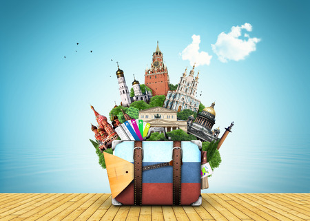 tourism russia: Russia travel place vector