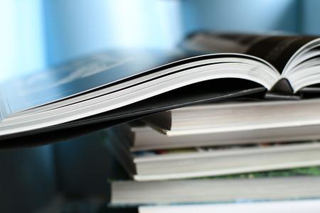 book stack: Books