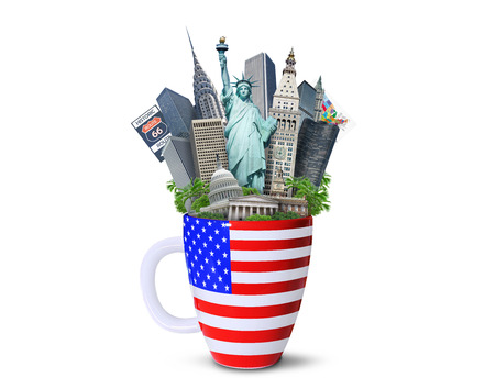 USA, landmarks of the USA 스톡 콘텐츠