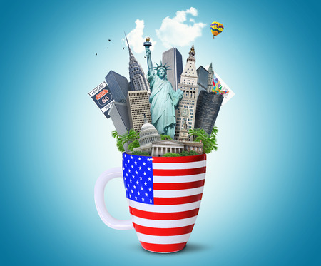 american culture: USA, landmarks of the USA Stock Photo