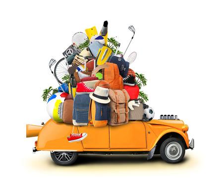 maletas de viaje: Vacaciones y viajes, un enorme mont�n de cosas para la fiesta