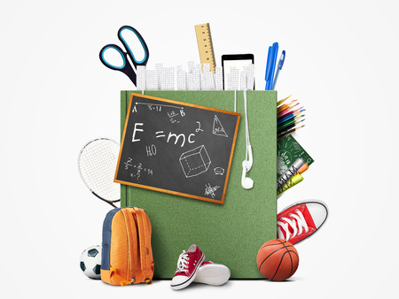 history background: Education and book Stock Photo