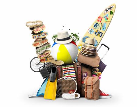 Bagage, goederen voor vakantie, vrije tijd en reizen