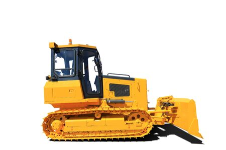 Yellow neuen Traktor, Industrie Ingenieur- und Bauwesen Standard-Bild