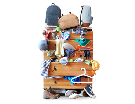 Mess et des vêtements Banque d'images - 49127075