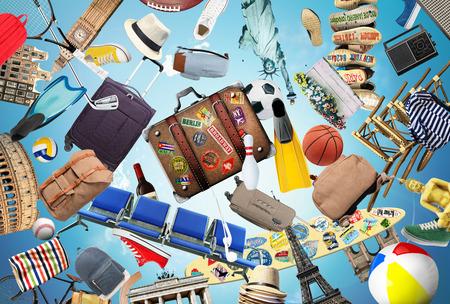 luggage travel: Travel background
