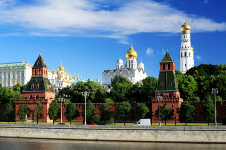 Russia, beautiful view of the Moscow Kremlin