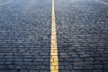 道路はコンクリート タイル、背景および石のテクスチャ 写真素材