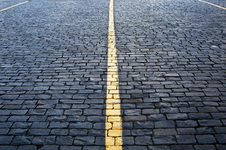 Road is concrete tiles, the background and texture of stone