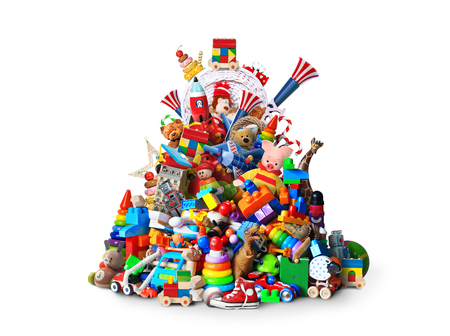 NOrme pile de jouets différents et colorés Banque d'images - 87014775