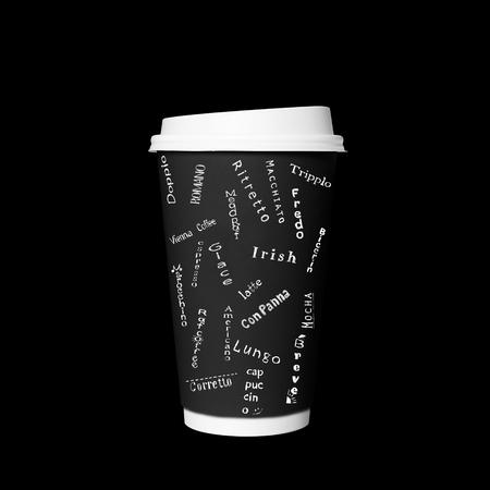 일회용 커피 컵 커피 종류의 카드