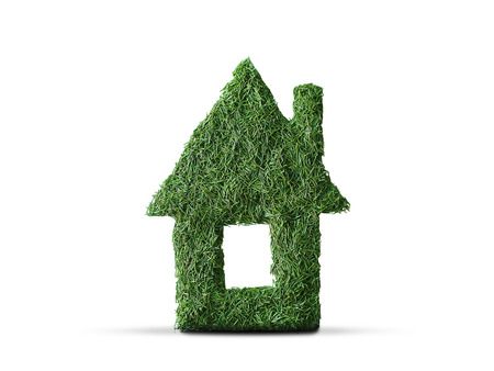 Eco home, small house of spruce needles Stock Photo