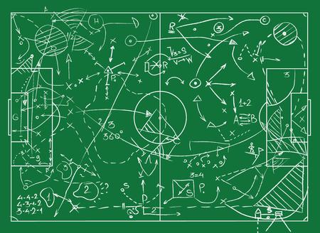 Coaching Bord für Spiel Taktik und Strategien Vektorgrafik