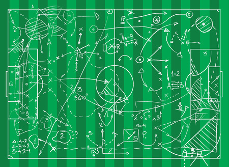 Coaching Board for game tactics and strategies Stok Fotoğraf - 94903277