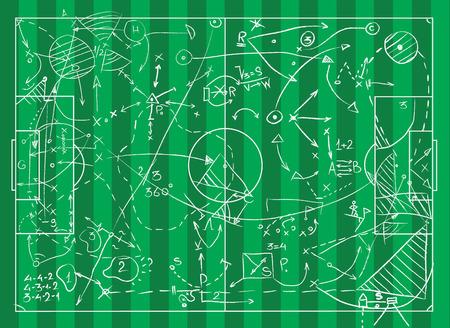 Coaching Board per tattiche e strategie di gioco Archivio Fotografico - 94903277