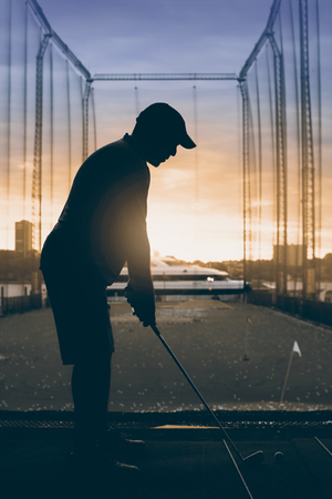 Golfer on the Golf course in new York