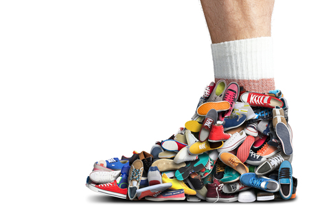 Great sneaker made of different sneakers