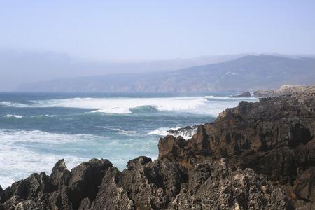 Picturesque coast of the Atlantic ocean in Portugal
