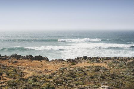 Coastline of the Atlantic ocean in Portugal