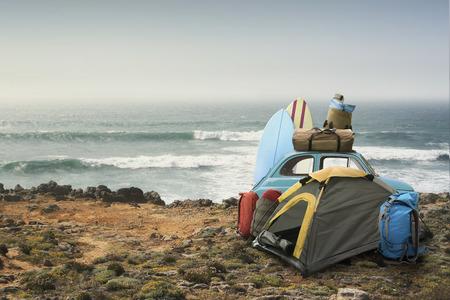 Tourist camp Stockfoto