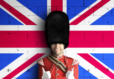 Royal guards of britain Standard-Bild - 117545452