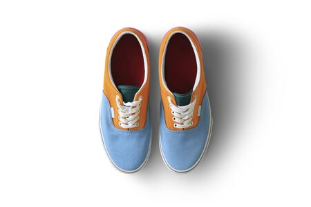 Color men sport sneakers on a white background 版權商用圖片